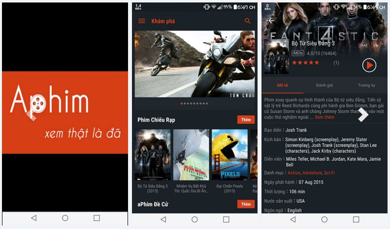 aPhim - Ứng dụng xem phim hành động online miễn phí tốt nhất 2017 (2)