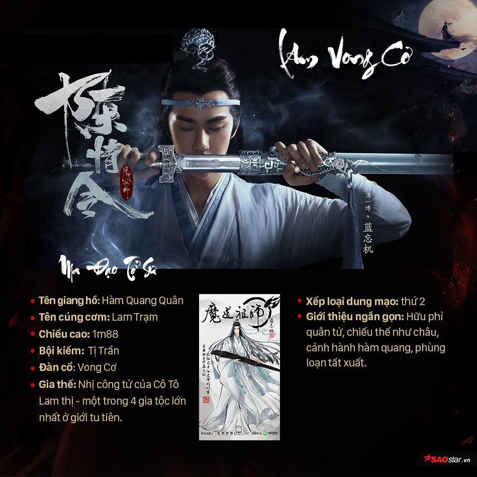 Thông tin nhân vật trong Ma đạo tổ sư, profile nhân vật phim Trần Tình Lệnh (3)