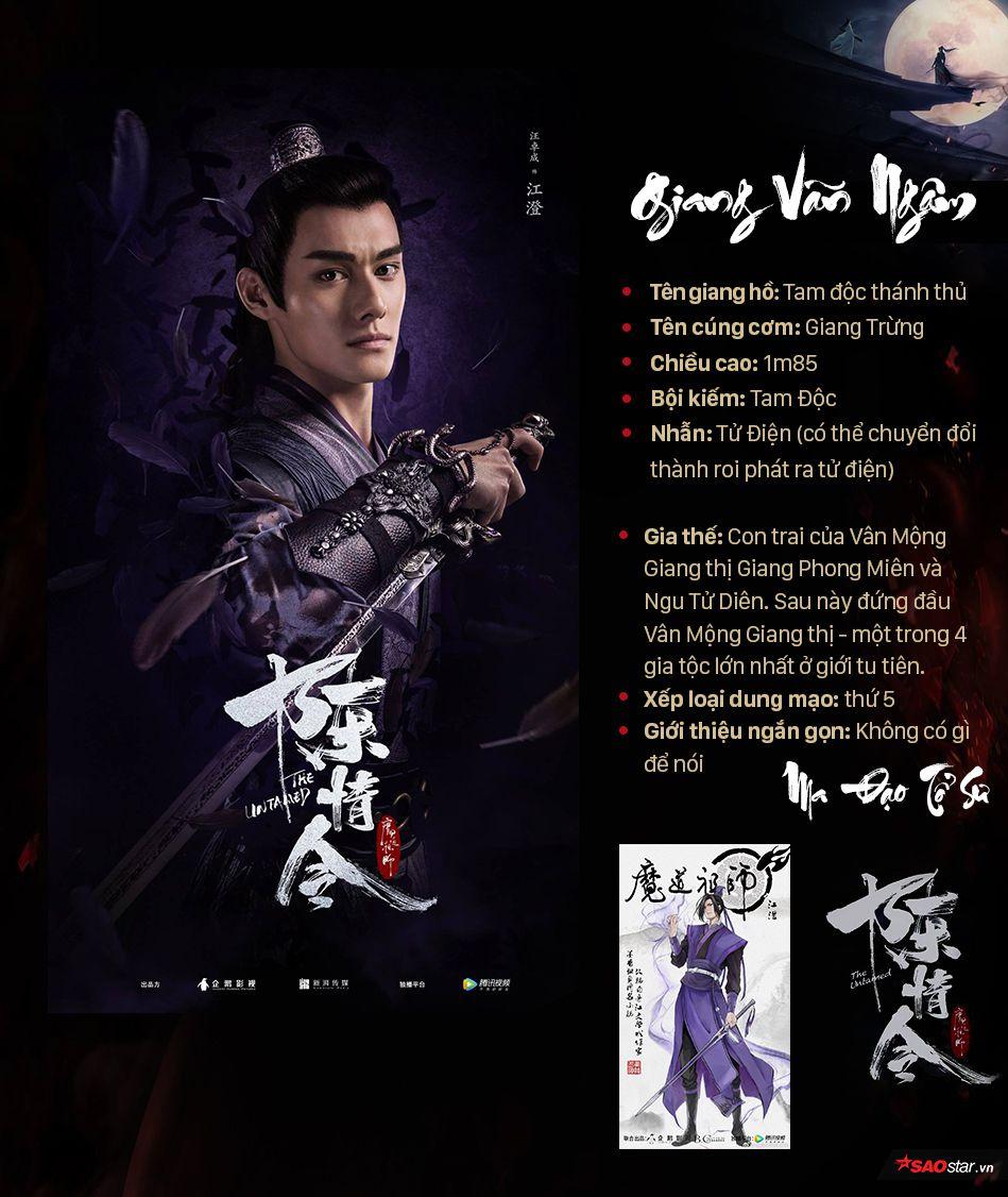Thông tin nhân vật trong Ma đạo tổ sư, profile nhân vật phim Trần Tình Lệnh (4)