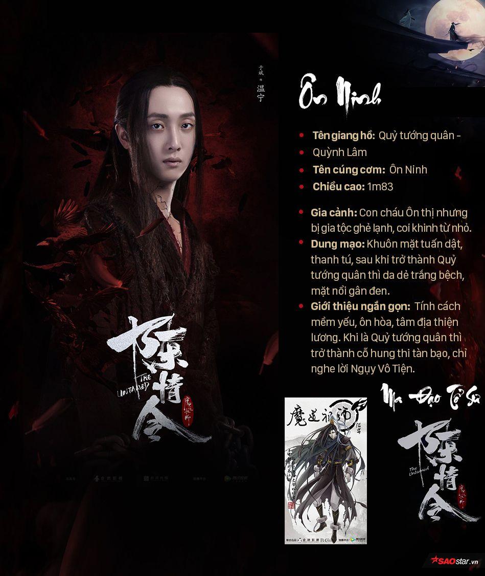 Thông tin nhân vật trong Ma đạo tổ sư, profile nhân vật phim Trần Tình Lệnh (7)