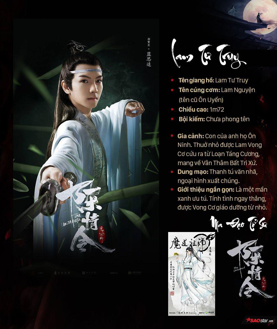 Thông tin nhân vật trong Ma đạo tổ sư, profile nhân vật phim Trần Tình Lệnh (9)